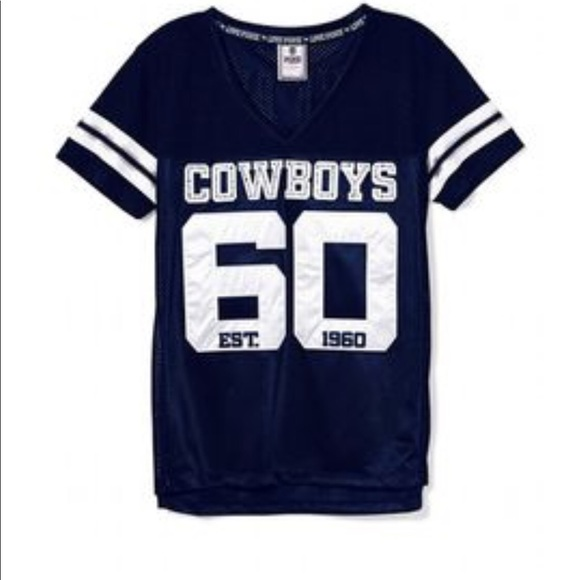 best sneakers 4977a 55bad Pink Dallas Cowboys jersey in blue